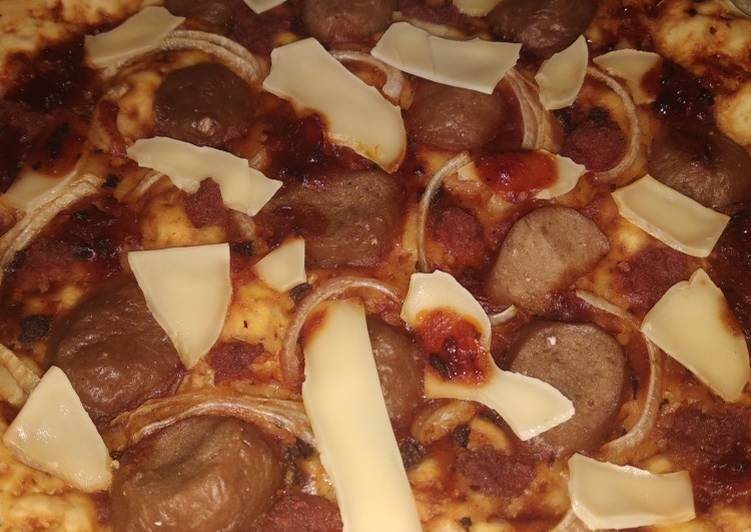 Pizza Meat Lovers Home Made