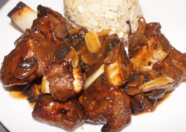 Smoked Korean BBQ ribs Air Fryer Tefal 4.2L