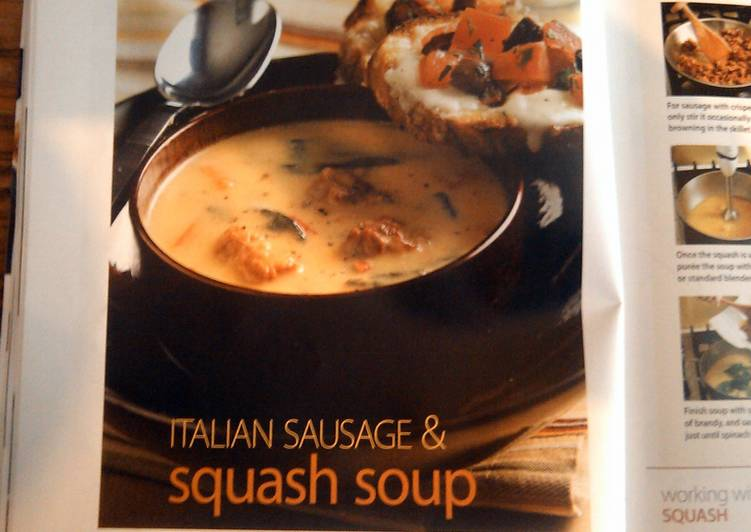 Itilian sausage & squash soup