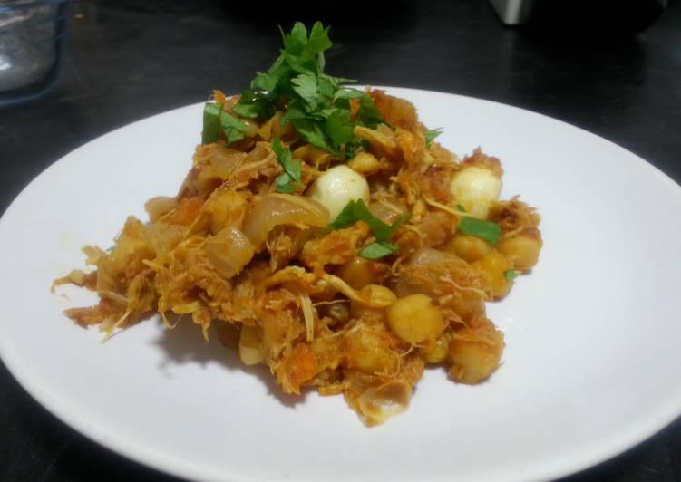 Ropa vieja (chicken leftovers recipe)