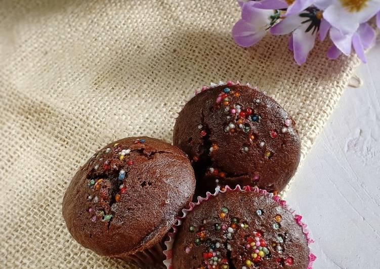 Cup cake brownies pisang coklat
