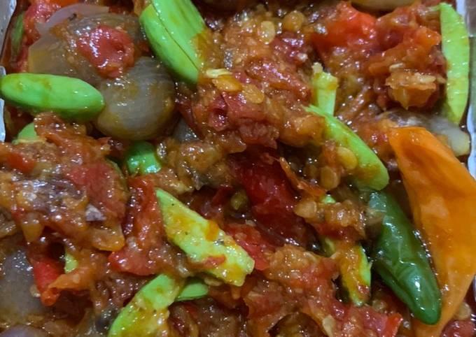 sambal bawang pete - resepenakbgt.com