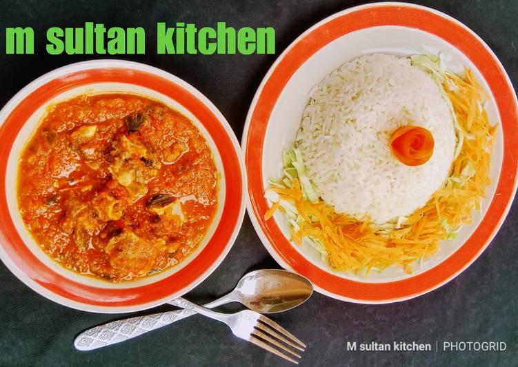 White rice and stew Choosing Fast Food That's Very good For You