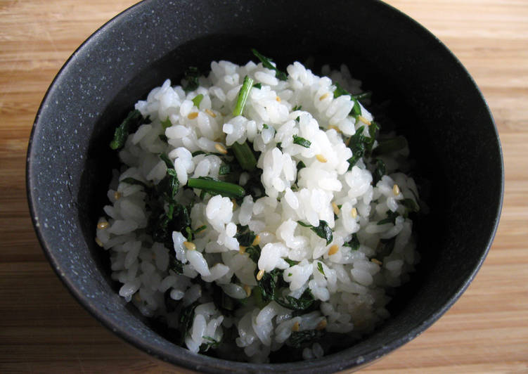 Recipe of Perfect Shungiku (Edible Chrysanthemum) Mazegohan