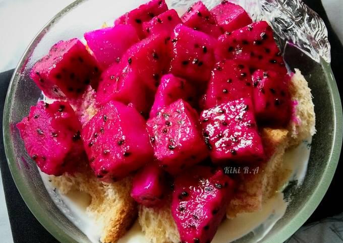 Roti Gandum Yogurt Buah Naga (diet)