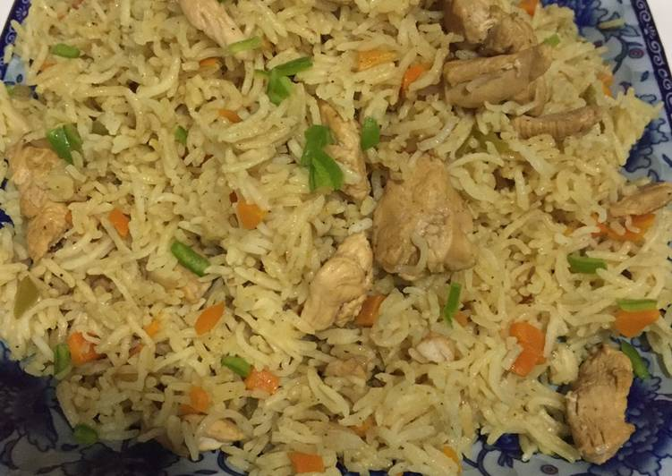 How to Prepare Homemade Chicken Vegetables rice