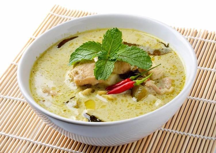 Recette Savoureux Poulet Thaï au curry vert