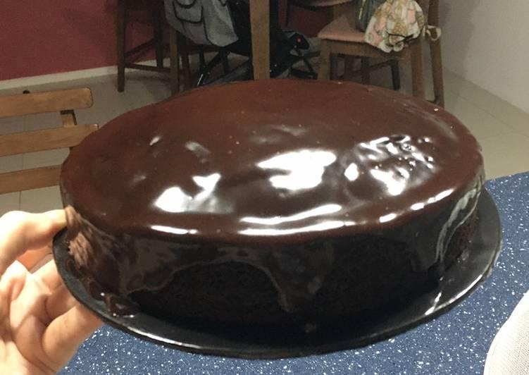 Steam chocolate cake