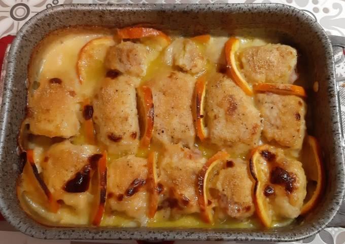 Involtini di pollo all'arancia