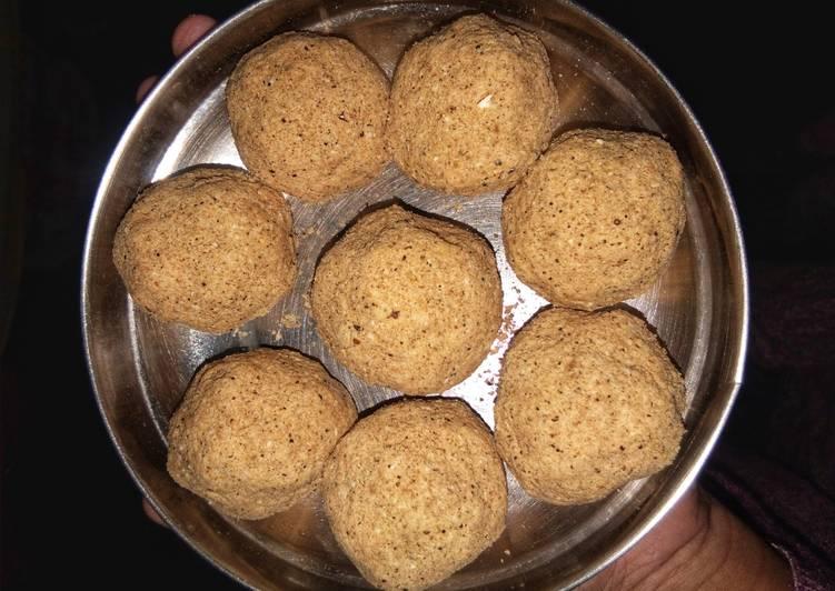 Recipe of Super Quick Homemade Healthy oats-jaggery laddoos