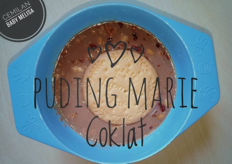 resep cara bikin Puding Marie Coklat