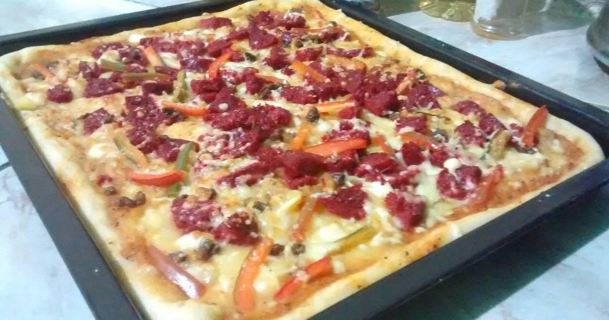masa para pizza sin levadura con harina leudante