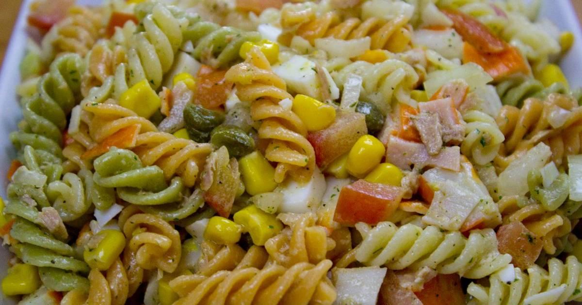 салат из макарон рецепт с фото тому эту историю