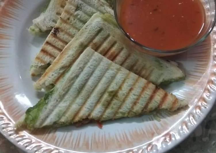 Steps to Make Any-night-of-the-week Vegetable sandwich with tomato soup