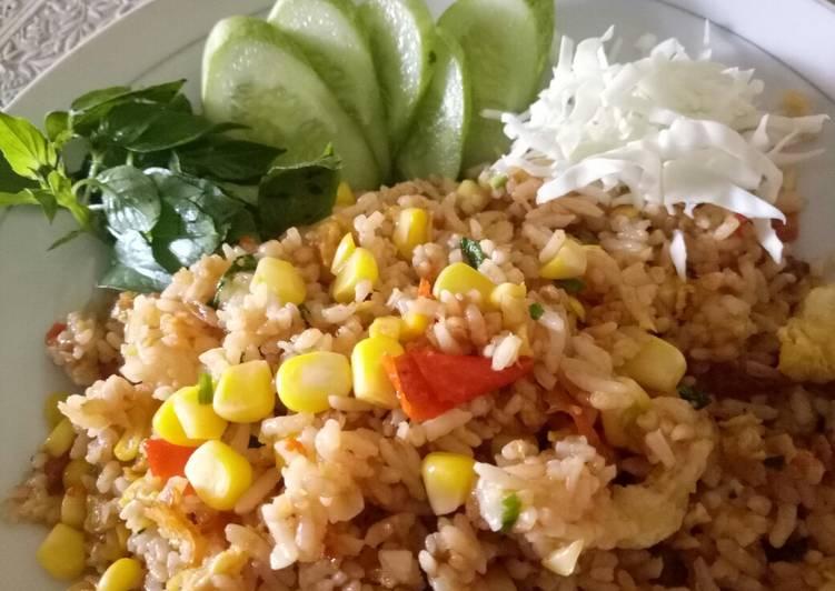 Nasi goreng jagung manis