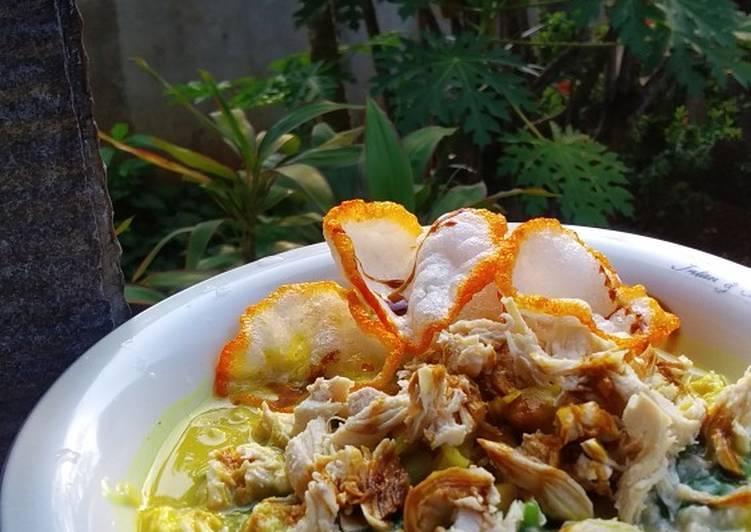 Resep Bubur Ayam Bayam Oat. Rendah Kalori, Rendah Lemak, Tinggi Serat Paling dicari
