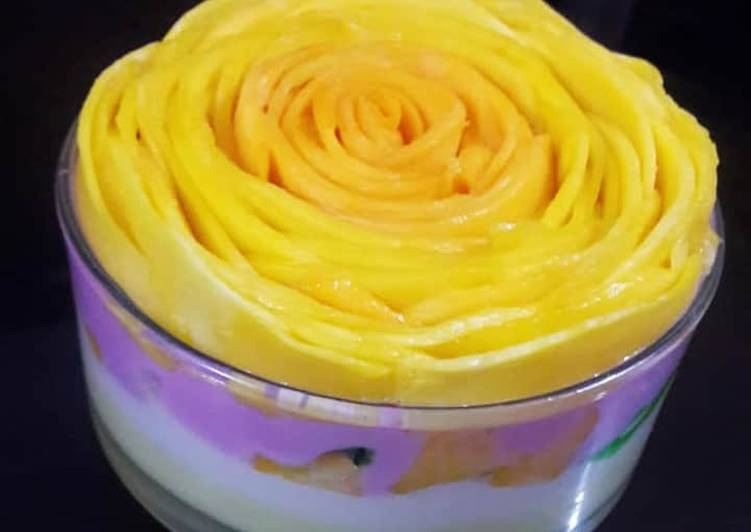 Easiest Way to Prepare Super Quick Homemade Mango custard delight