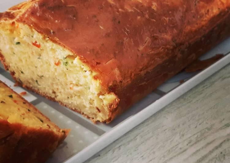 Cake au surimi aux aromates de mon jardin