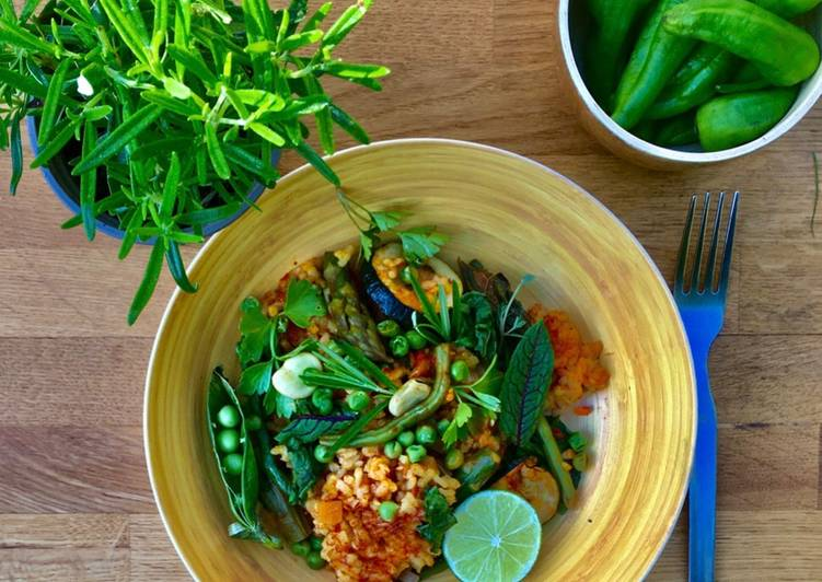 Green Vegetable Paella 🌱🌿