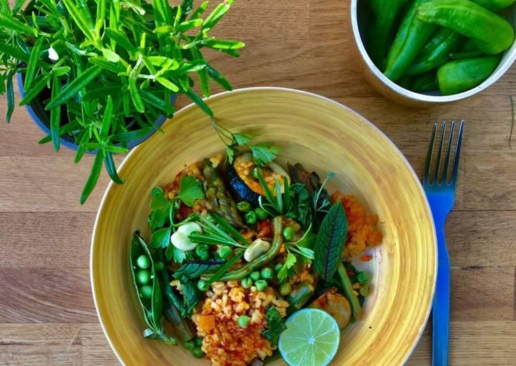 Simple Way to Make Award-winning Green Vegetable Paella 🌱🌿