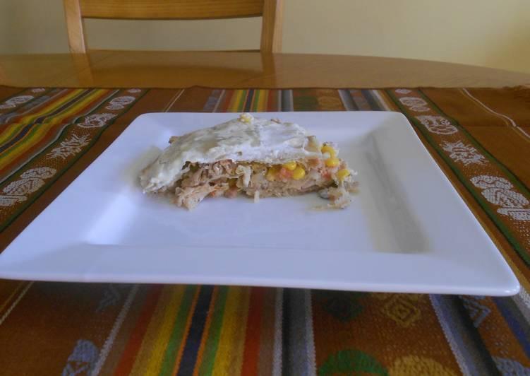 Pastel Azteca De Pollo Receta De Veronica Victorio Cookpad