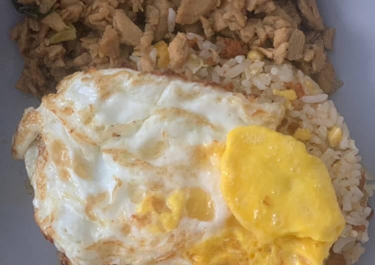 Resep Nasi Goreng Telor Sosis simple😋 Bikin Ngiler