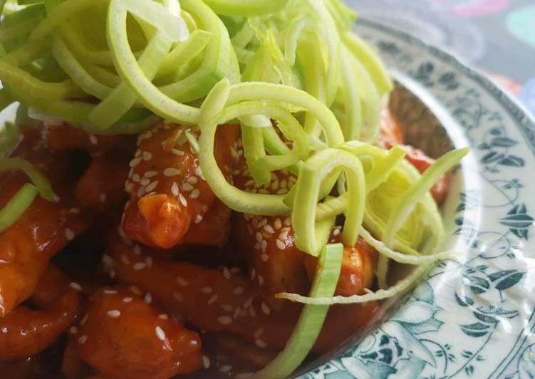 Simple korean recipe - Spicy korean chicken