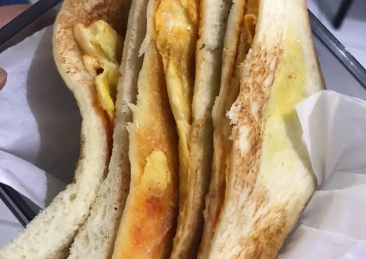 Egg chese sandwich (murah tp kenyang)