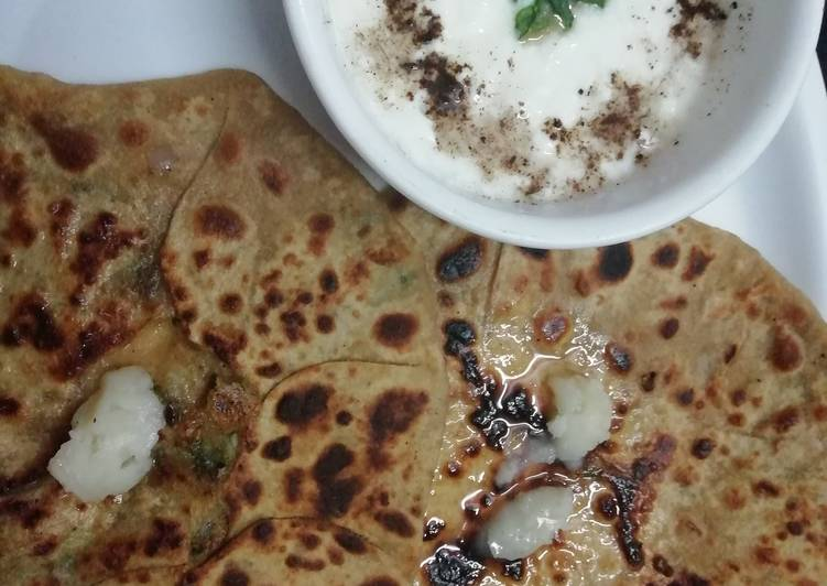 Easiest Way to Make Super Quick Homemade Aloo paratha
