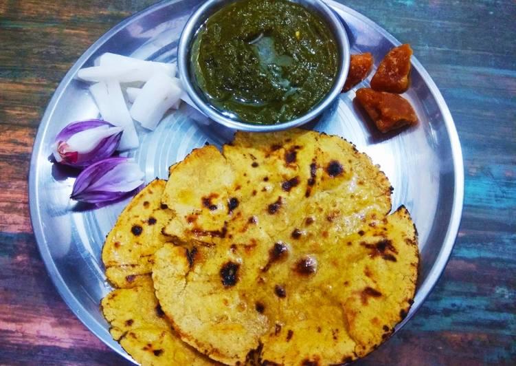 What are some Dinner Ideas Speedy Saag,makka ki roti