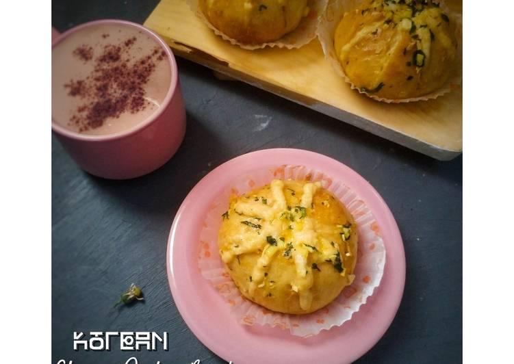 Korean Cheesy Garlic Bread (Tanpa cream cheese dan ulen)