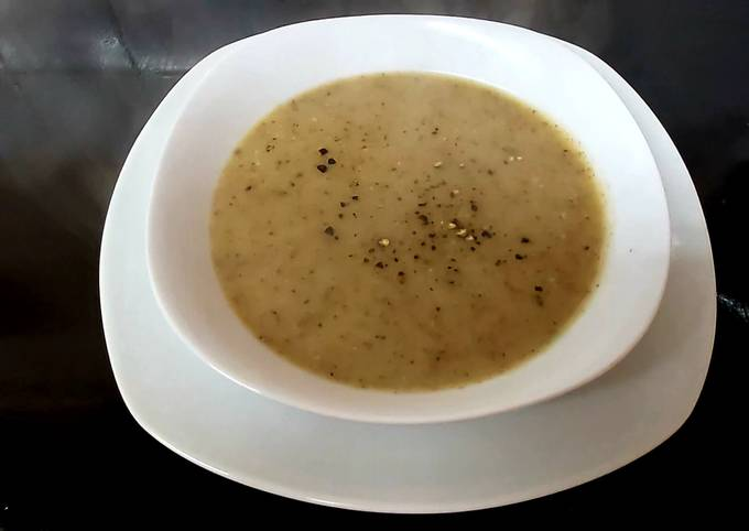 My Leek & Potato Soup With Mushroom 🥰
