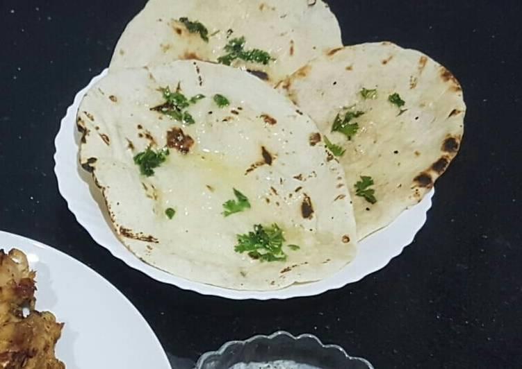 Homemade tawa naan
