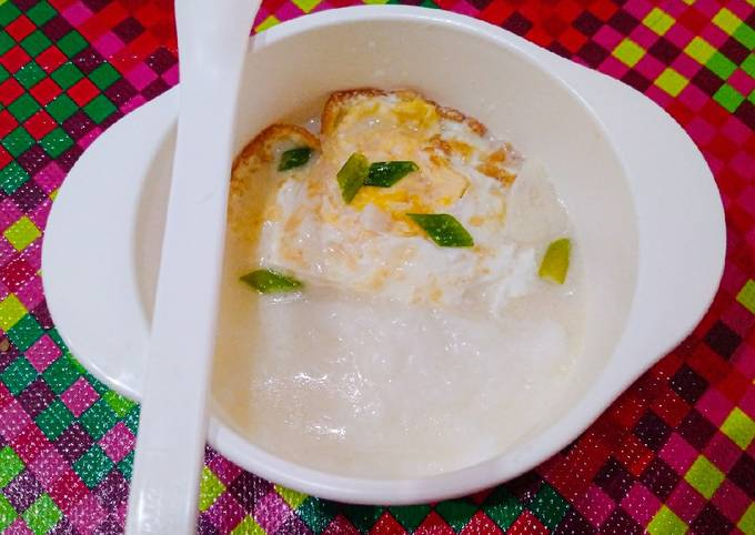 Telur ceplok kuah santan MPASi 9m+ tinggi kalori