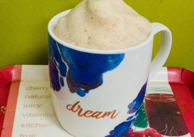 Indian style beaten coffee