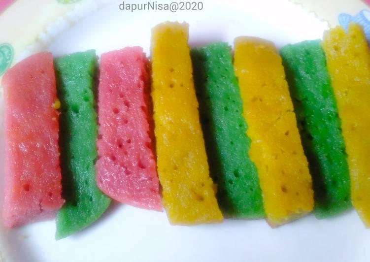 Bika Ambon Talas rainbow