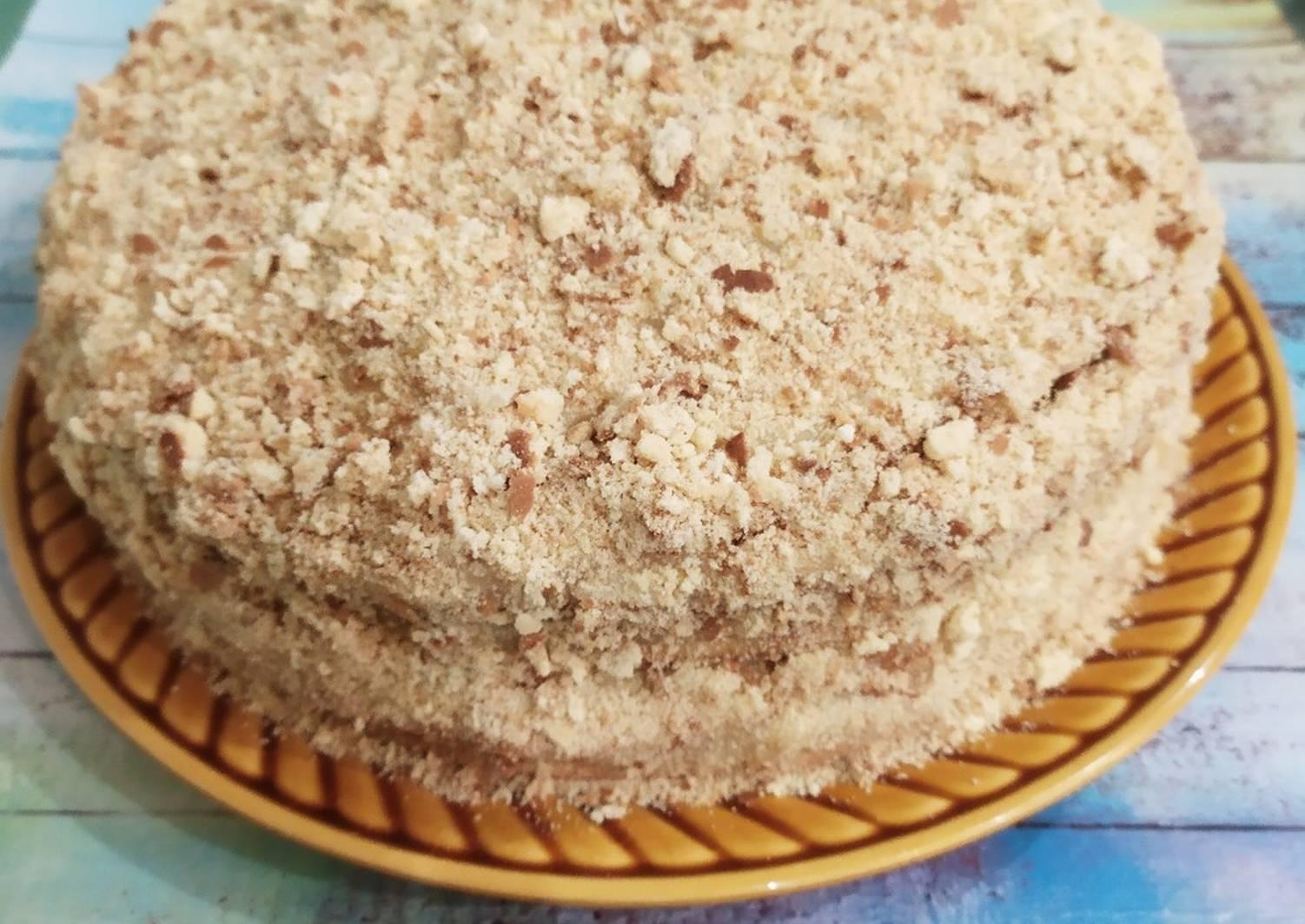 тортик на сковороде пошаговый рецепт с фото видно чего