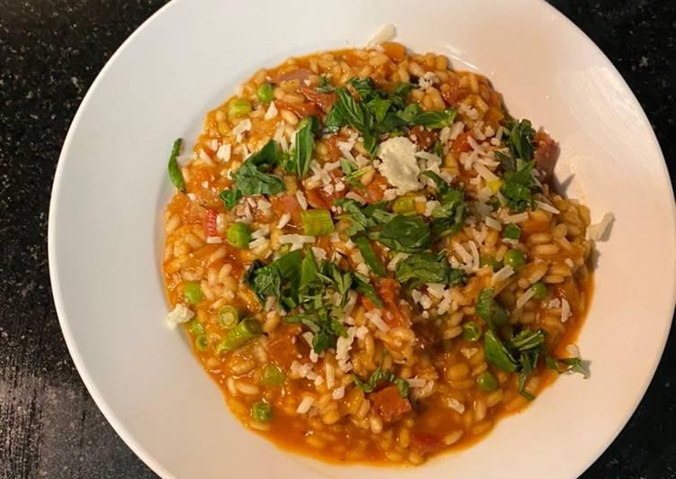 Chorizo Risotto (Spicy)