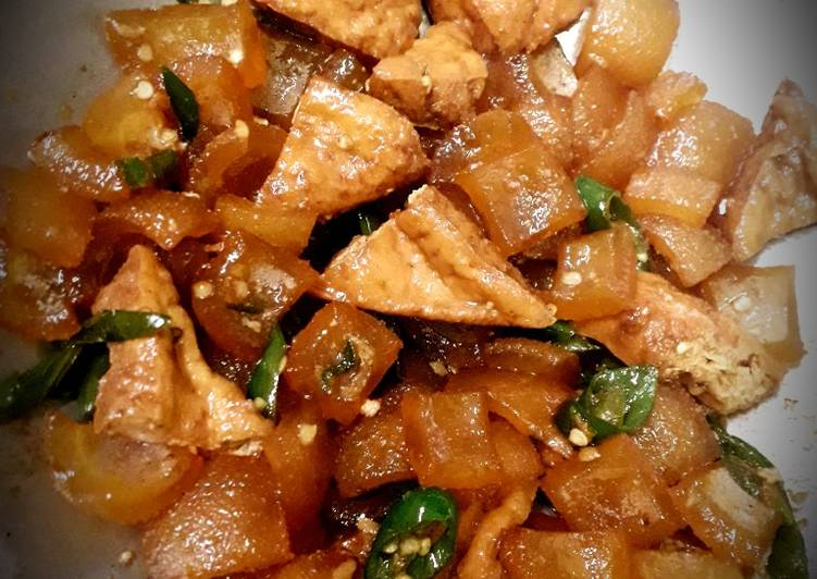 KikiL Sapi&Tahu Kecap Cabe ijo - cookandrecipe.com