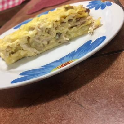 Lasaña De Pollo En Salsa Blanca Especial Receta De Cocina De Dayi Cookpad