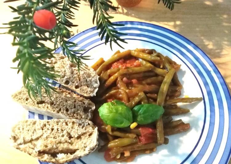 Ricetta Fagiolini alla toscana rustici al pomodoro