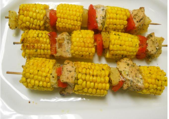 Chicken & Sweetcorn Kebabs