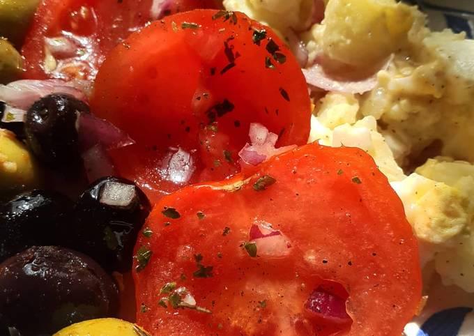 Salade Tomate fraîche et pomme de terre
