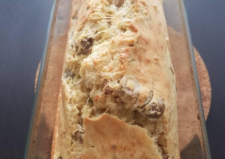 recette Cake olives vertes et noix délicieux