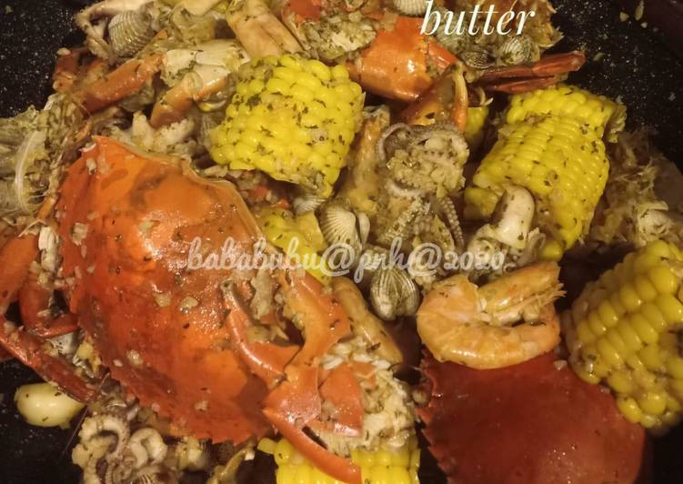 Cara Memasak Resep Lezat Dari Seafood saus garlic & butter simple