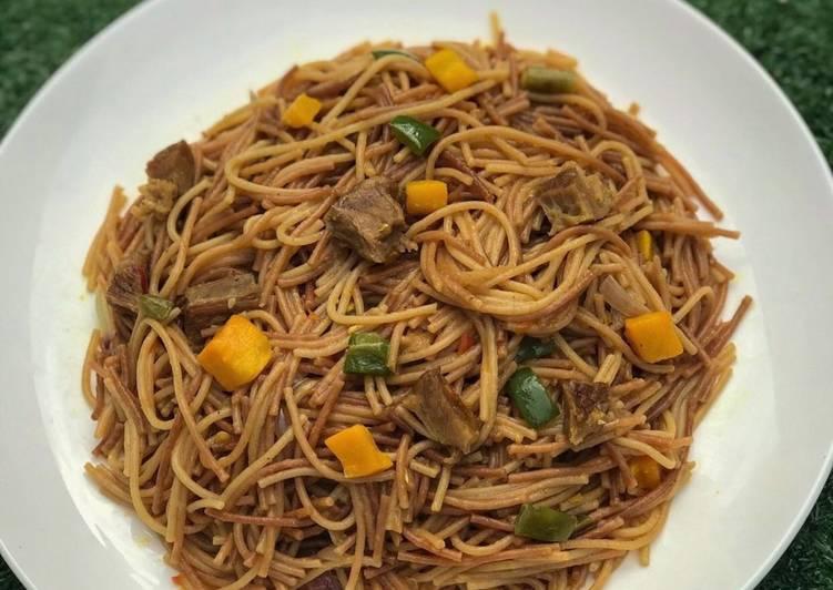 Recipe of Perfect Fried spaghetti