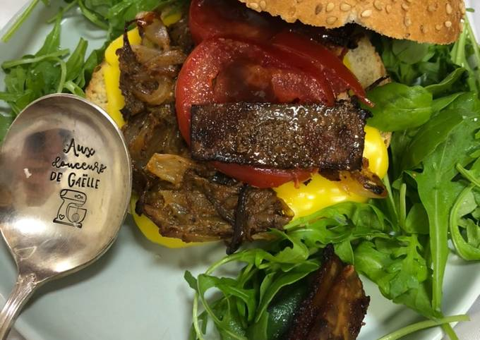 Burger vegan façon pulled pork