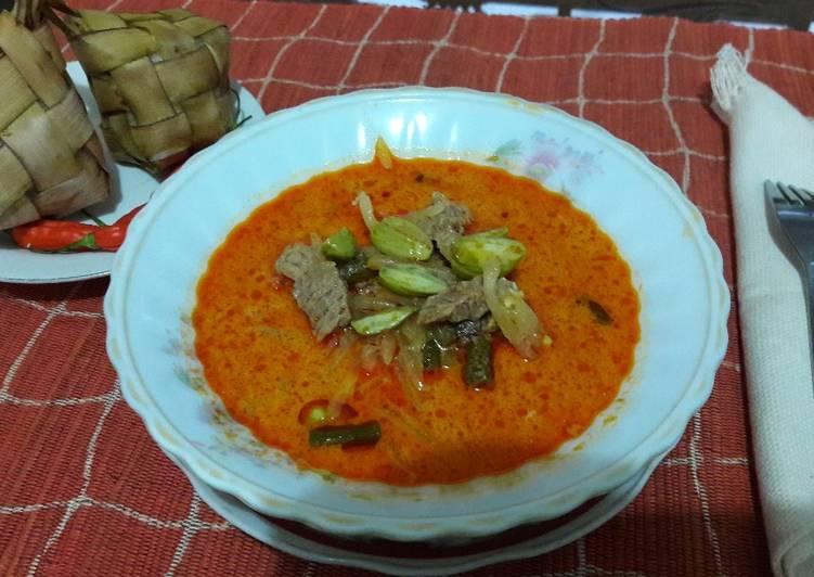 Sayur daging sapi sambel godok🐮🎋#kitaberbagi