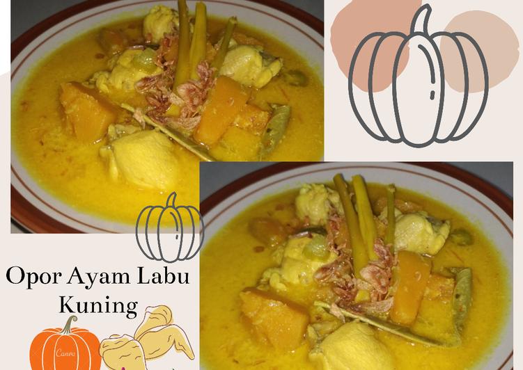 Opor Ayam Labu Kuning