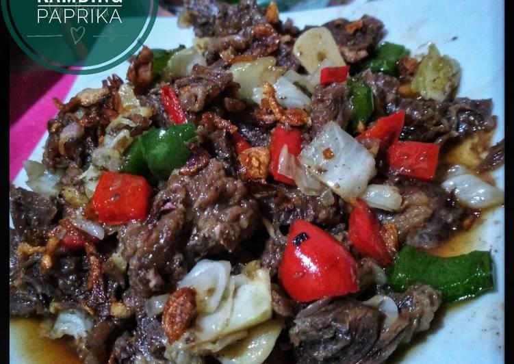 Tumis Daging Kambing Paprika